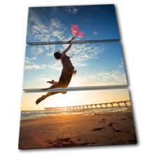 Girl Balloons Sunset Seascape - 13-1838(00B)-TR32-PO